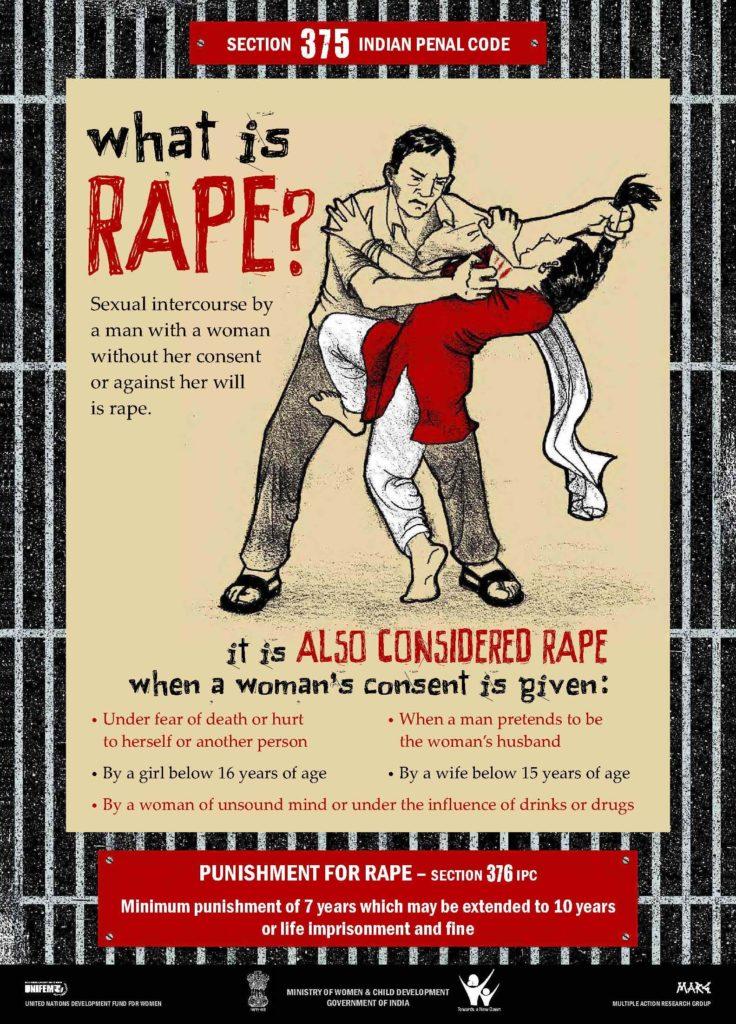 Poster on Rape