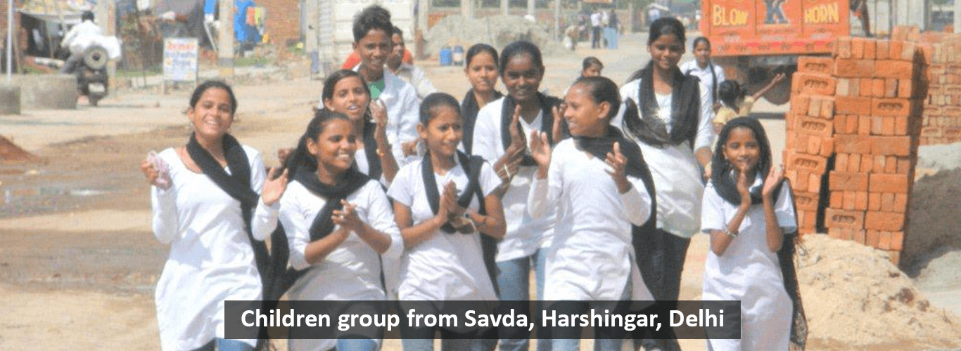 Children Group from Savda, Harshingar Delhi