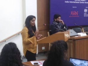 Journalist Ms Sugandha, TV Today Network sharing experience on sexual harassment at workplace with women workers