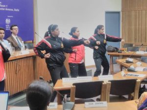 Self defence activities showing by Special Police Unit for women and child of Delhi police