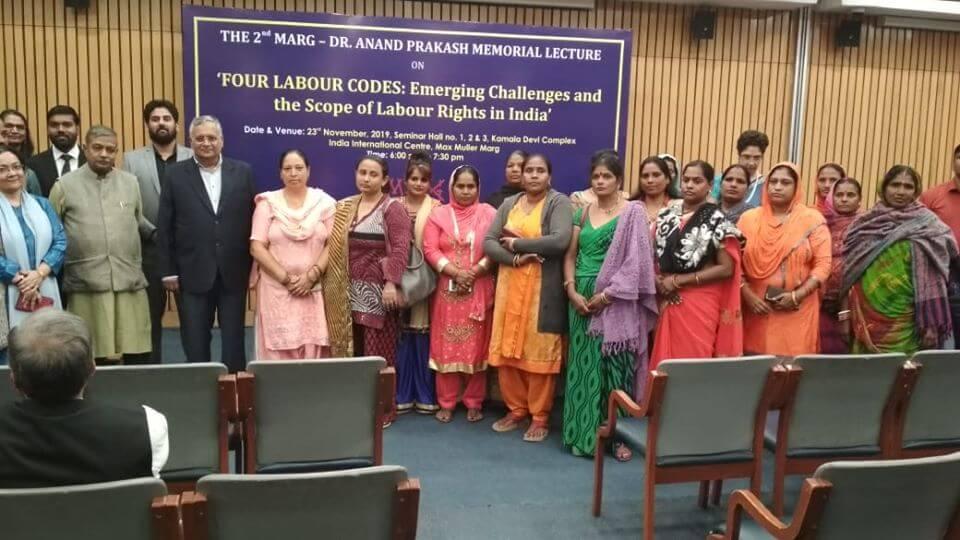 Harshingar Mahila Samuh and MARG team with Subhash Bhatnagar