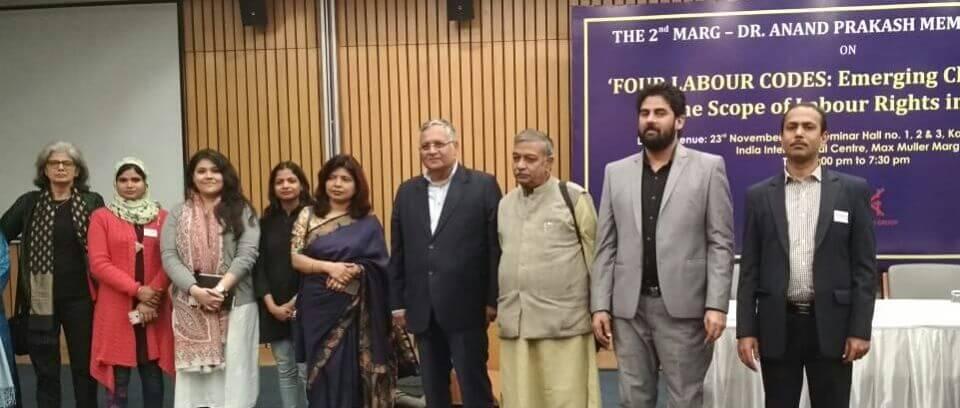 MARG team with Subhash Bhatnagar, Labour Rights Activist