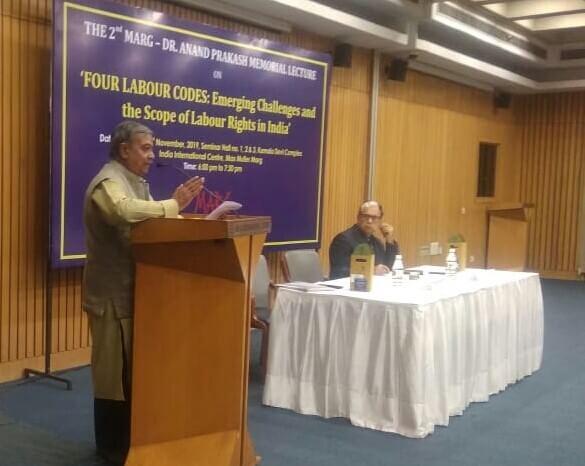 Mr. Subhash Bhatnagar, Labour Rights Activist, Chief Functionary, NIRMANA speaking on FOUR LABOUR CODE