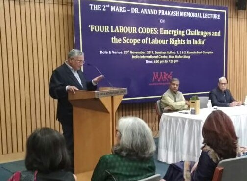K.K.Rai, Chairperson, MARG, welcomes to guests and participants