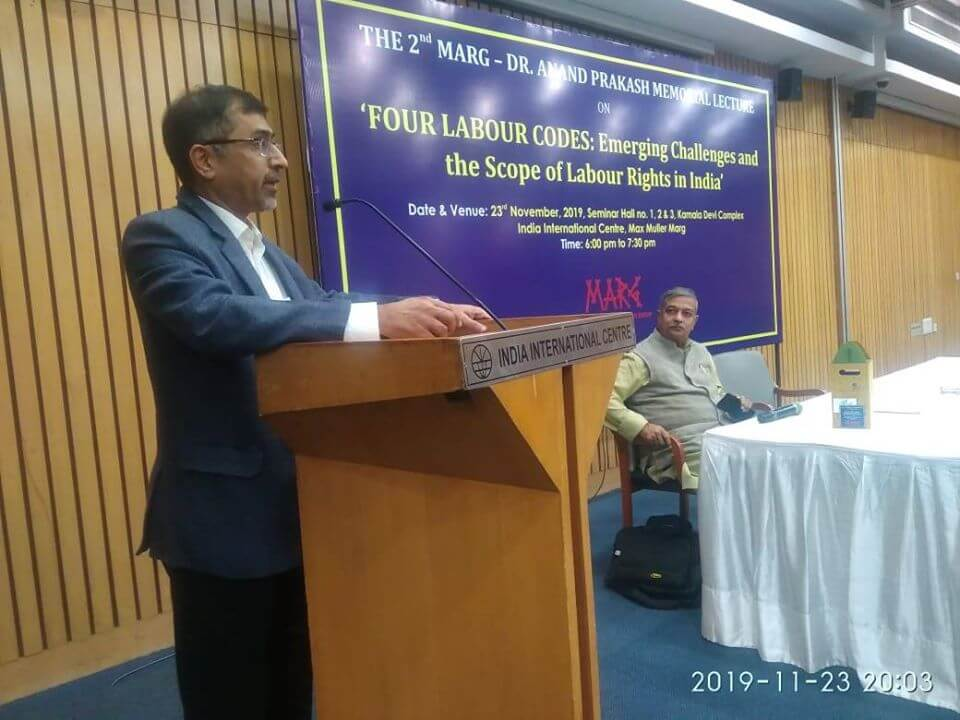 Advocate, Sourabh Anand Prakash, GB member of MARG giving vote of thanks to guests and participants
