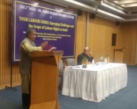 Mr. Subhash Bhatnagar, Labour Rights Activist, Chief Functionary, NIRMANA speaking on FOUR LABOUR CODE